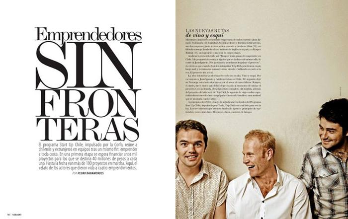 Rediseño Revista SABADO / El Mercurio