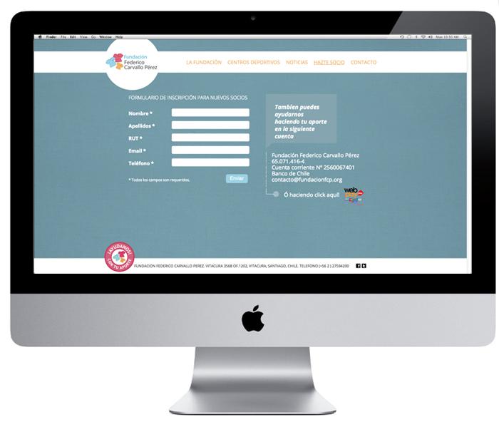 WEB Fundación Federico Carvallo Pérez