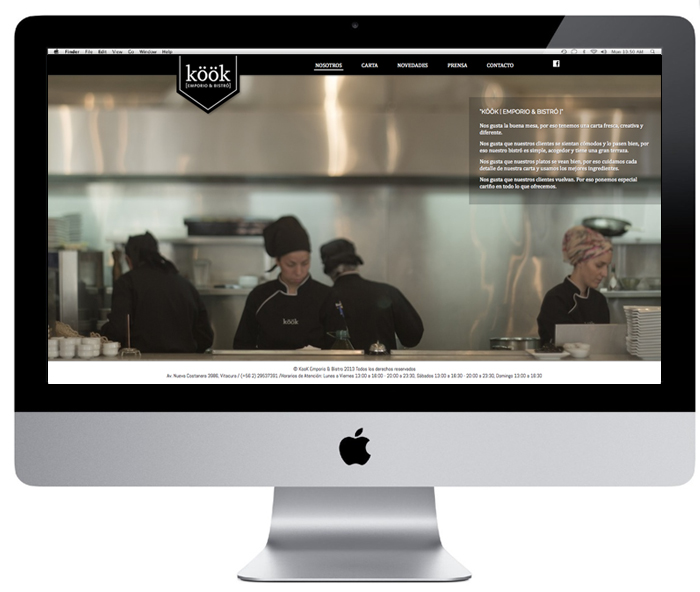 Web Restaurant Kook